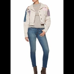 Just Cavalli denim patchwork jacket